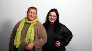 Liisa Uusitalo-Arola ja Maria Jyrkäs.