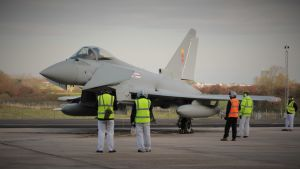 Eurofighter Typhoon valmiina lennolle