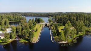 Kerma kanal i Heinävesi.
