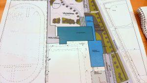Planritning över hus Pargas skolcentrum kunde se ut om det byggs om efter år 2020.