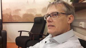 Mats Hägglund är cheg på Vörå Migrationscenter