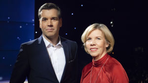 Anna-Maja Henriksson tillsammans med Daniel Olin.