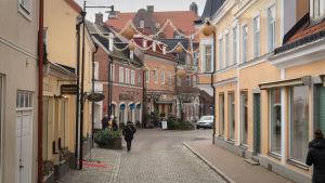 En gata i Sölvesborg i Sverige