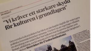 Debattartikel i Dagens Nyheter.