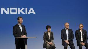 Presskonferens med Nokia-ledningen