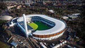 Helsingin Olympiastadion, ilmakuva