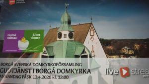 Info om strömmad gudstjänst från Borgå domkyrka.