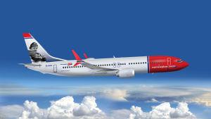 Ett Norwegian-plan i luften.
