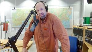 Marcus Rosenlund i studion
