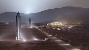 Elon Muskin haaveissa Starshipit auttavat rakentamaan siirtokuntia Marsiin. Alusta on tehty tämä tehtävä mielessä.