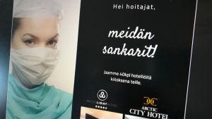 Arctic Light Hotelin ja City Hotelin kampanja Facebookissa hoitajille