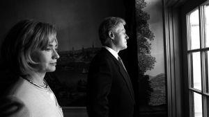 Hillary och Bill Clinton i Vita huset, 1999.