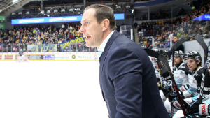 Ville Nieminen ropar i Pelicans-båset.