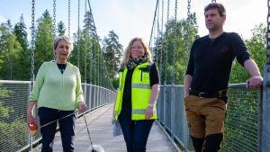 Karin Svahnström, Maria Eriksson, Joakim Mäkelä.