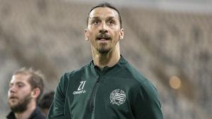 Zlatan Ibrahimovic i Hammarbys träningsdräkt.