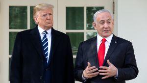 Donald Trump och Benjamin Netnyahu