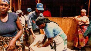 Riisiä torilla Kilimanjarolla.