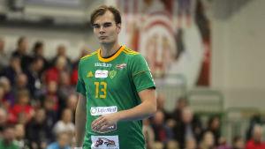 Vincent Voutilainen i Sjundeås tröja.
