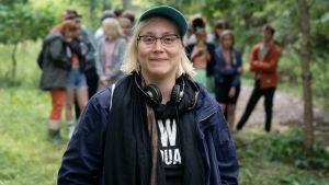 Filmregissören och manusförfattaren Ulla Heikkilä under inspelningen av filmen Eden.