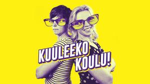 Kuvassa ovat Kuuleeko koulu! -podcastin vetäjät Anu Heikkinen ja Pia Rauha.