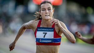 Alina Strömberg sprang i mål som fyra.