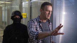 Aleksej Navalnyjs kontor i Moskva har flera gånger utsatts för polisens tillslag under de senaste åren.