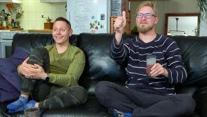Jussi-Pekka ja Jarno tykkäävät katsomastaan tv-ohjelmasta.