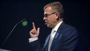 Petteri Orpo håller sitt linjetal på Samlingspartiets partikongress i Björneborg den 6 september 2020.