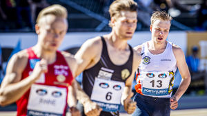 Niklas Heikkilä i farten under Kalevaspelen 2020.