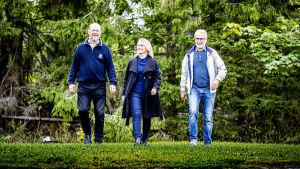 aaro söderlund, annastina sarlin och Inguar Karlsson-Parra på bild