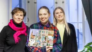 Teamet bakom BUU-klubbens julkalender 2020 är Ann-Catrin Rosenberg, Sanna Mander och Elin Sundell.