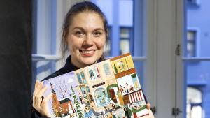 Sanna Mander har ritat BUU-klubbens julkalender 2020.