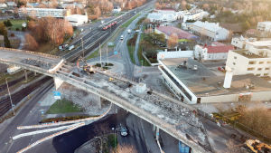 Järnvägsbron i Hangö rivs.