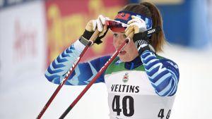 Katri Lylynperä snabbast av finländarna i sprintkvalet.