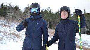 Slalomåkarna Axel Fu och Okko Vuolajärvi.