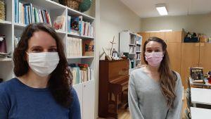 Kvinnor med mask