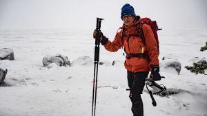 Erik Scalin som trivs på isen med sina skridskor