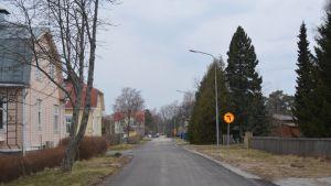 Gata i bostadsområde