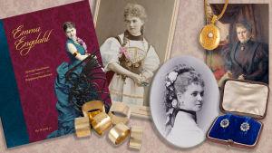bildkollage med foton och smycken