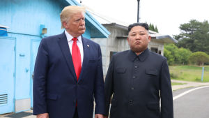 Den 30 juni 2019 möttes Donald Trump och Kim Jong-Un i stilleståndsbyn Panmunjom.