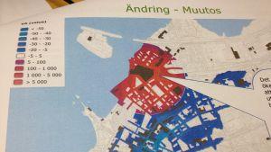 Bild från konsultrapport av FCG om de konsekvenser ett köpcentrum i Norra hamnen har för livskraften i Ekenäs centrum.