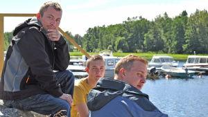 Tobias Kjellman, Emil Sparf och Jani Kohelo