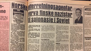 Den norska tidningen Ny Tid skrev år 1977 om Magnus Bratten som var spion i Finland på 1950-talet.
