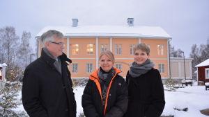 Concordias vd, Jarl Sundqvist, 1:e sekreteraren vid Norges ambassad och Anna Salmensaari från Innovasjon Norge tror på utökade handelsförbindelser mellan Finland och Norge