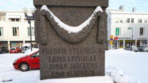 Namn på några av inbördeskrigets offer