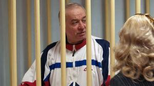 Sergei Skripal under sin rättegång i Moskva, 2006.