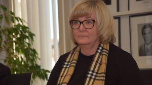 Sjundeås grundtrygghetschef Benita Öberg.