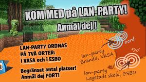 Anmäl dej till lan-party