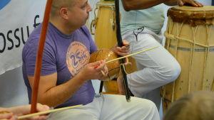 Capoeiraträning.