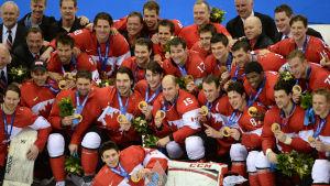 Då NHL-spelarna senast gjorde upp i OS (Sotji, 2014) vann Kanada guld.